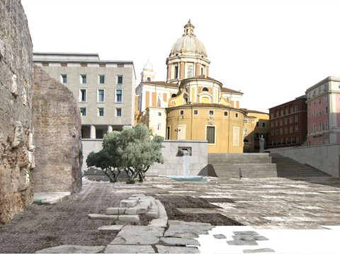 <strong>Restoration of Augusto Mausoleum and Augusto Imperatore Square in Rome</strong><br />Year 2006