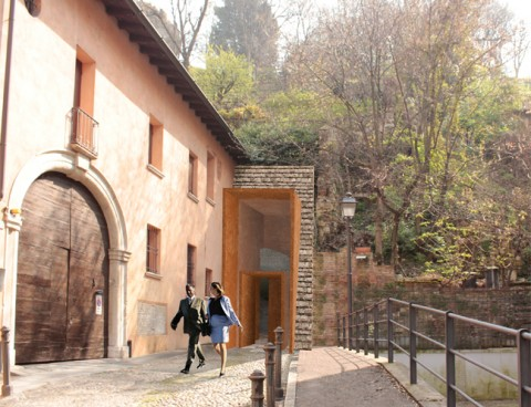 <strong>Access to the Parking Lot under the Hill of the Brescia Castle, Brescia, Italy</strong><br />Year 2011