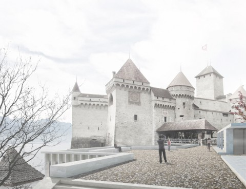 <strong>Visitor center of Chillon Castle, Veytaux, Switzerland</strong><br />Year 2013