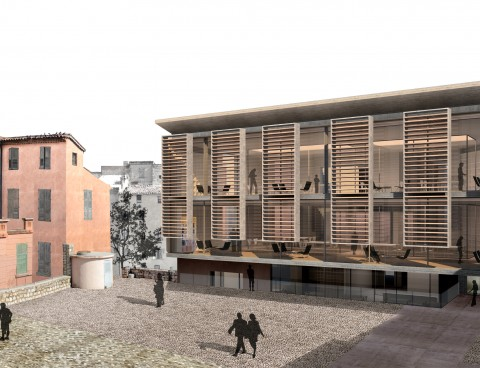<strong>Refurbishment and extension of Charles Negre Multimedia Library, Grasse, France</strong><br />Year 2011